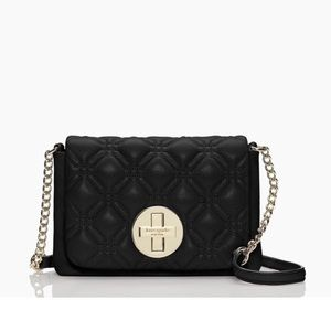 USED KATE SPADE QUILTED CROSSBODY BLACK
